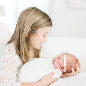 Big sister with newborn