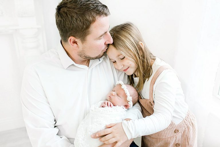 Dad with Daughters I Newborn Session